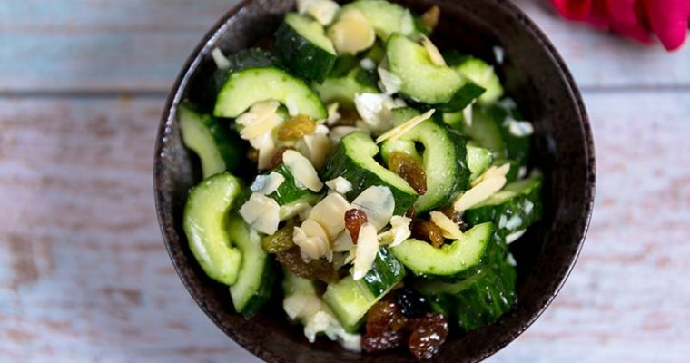 Cucumber Salad and almonds