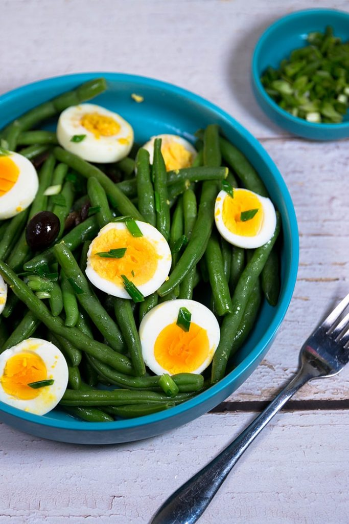 green bean and egg salad