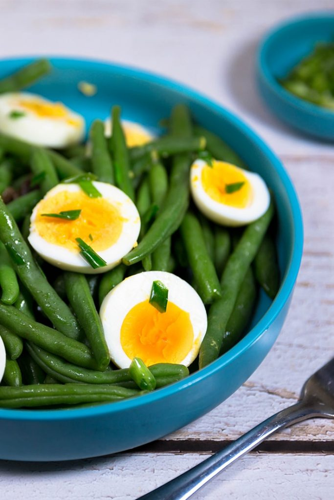 How to make egg and green bean salad!