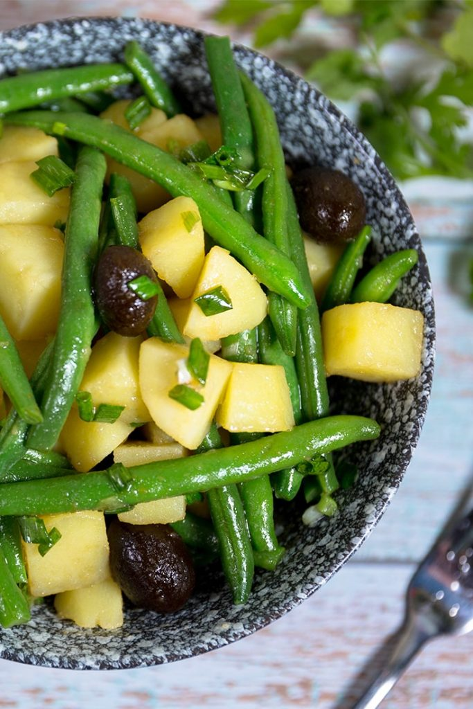 How to make potato and green bean salad!