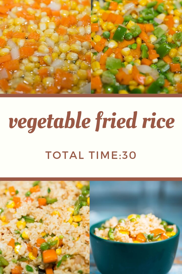 Learn how to make vegetable fried rice