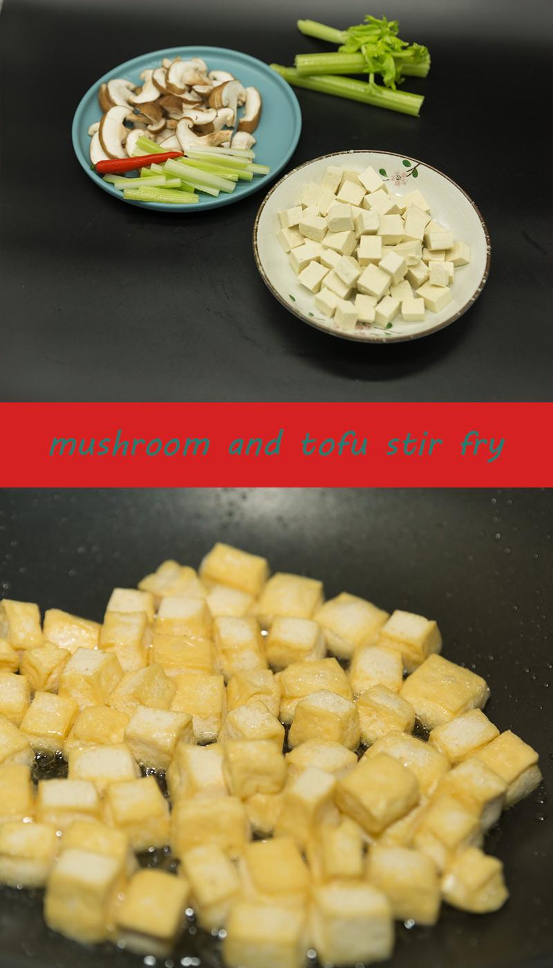 Tofu and Mushrooms