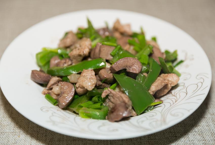 pork with kidney stir fry green pepper