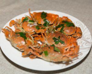 Steamed Blue Crabs
