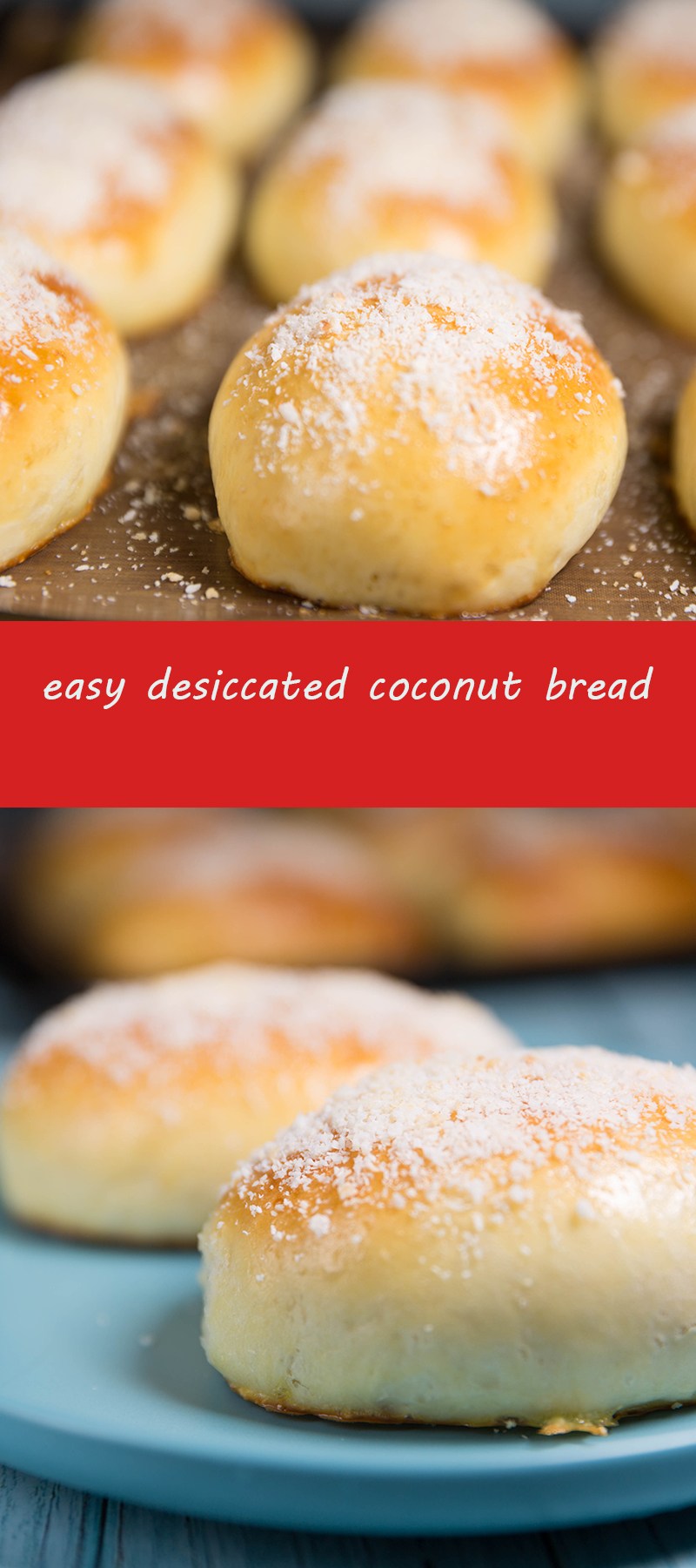 easy desiccated coconut bread