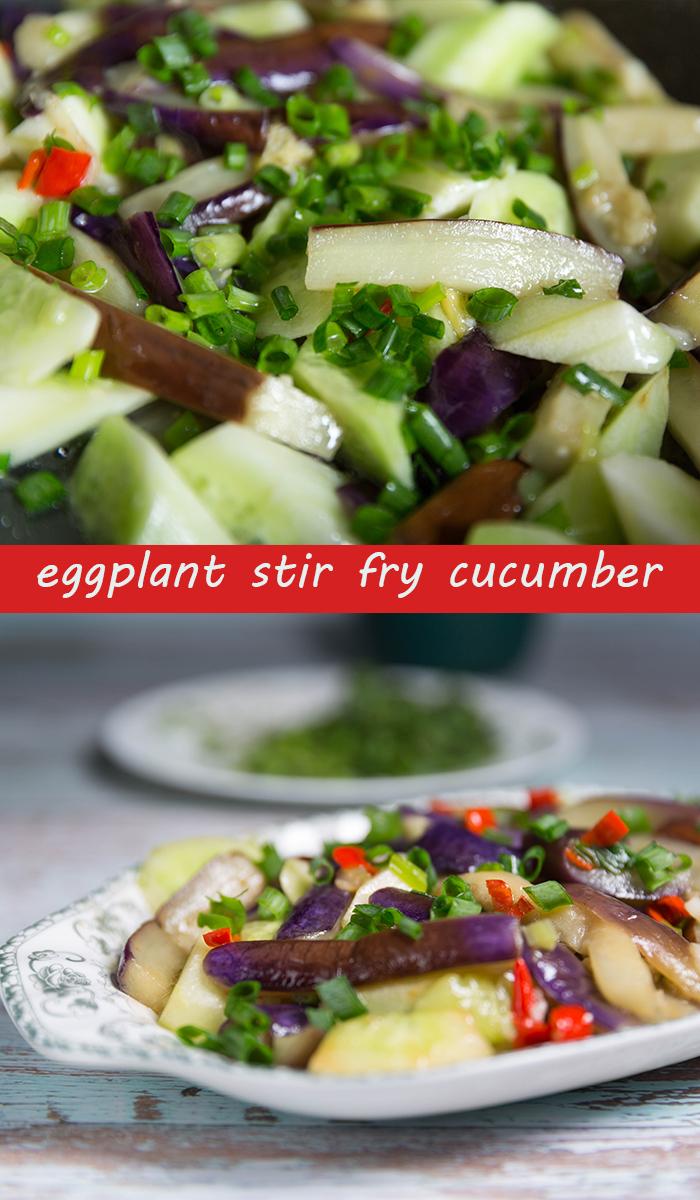 eggplant stir fry cucumber