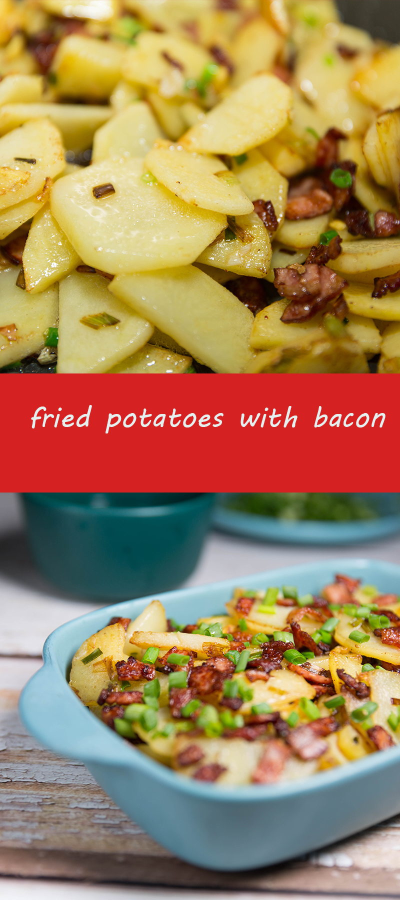 fried potatoes with bacon