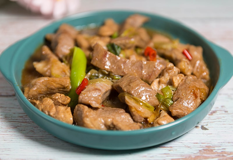 garlic pork stir fry