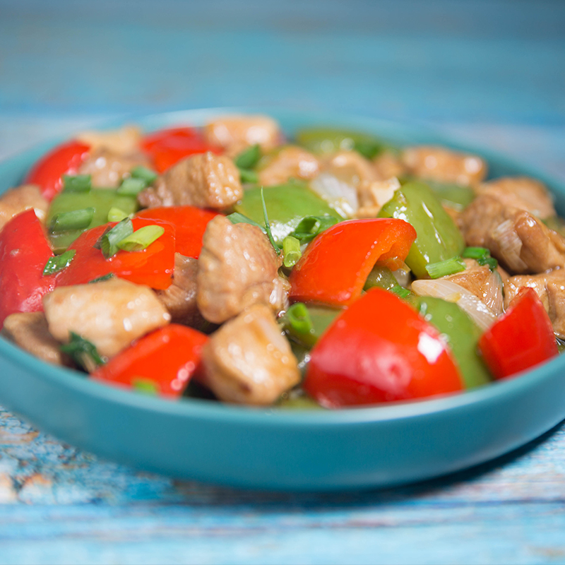 pork and bell pepper stir fry