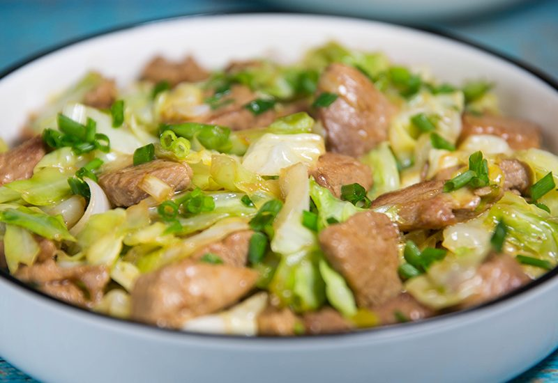 pork and cabbage stir fry