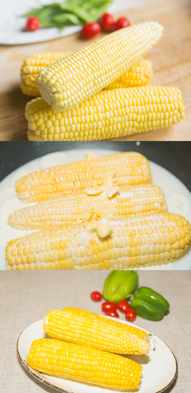 cook corn in milk and butter