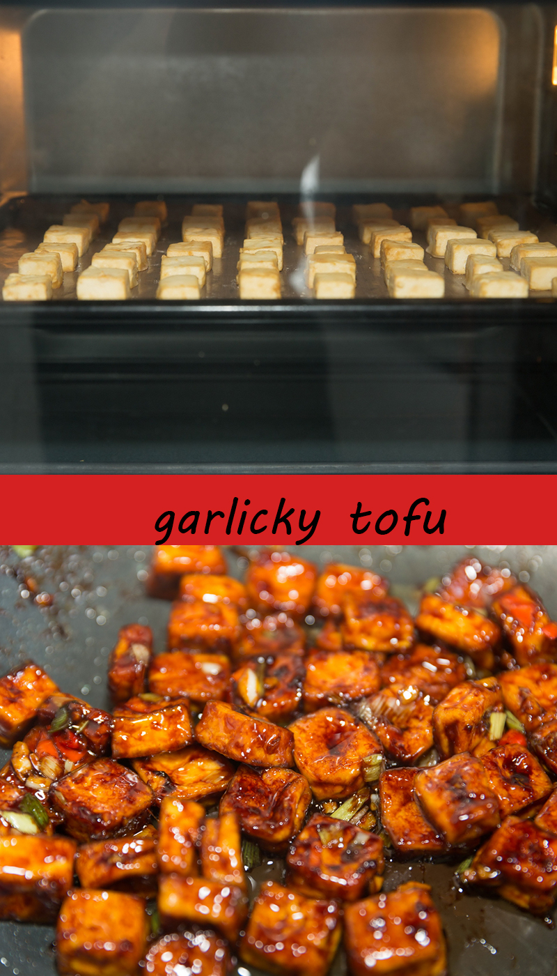 garlicky tofu