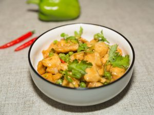 Chicken and green peas