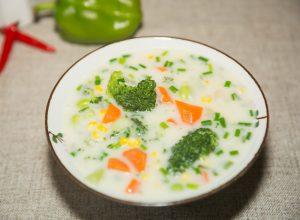 homemade milk vegetable soup
