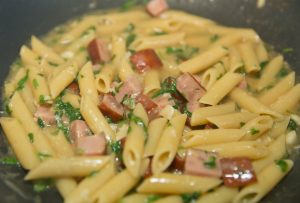Cheese Penne and ham