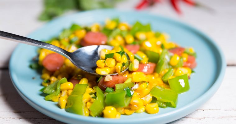 Fried Corn with Sausage recipes