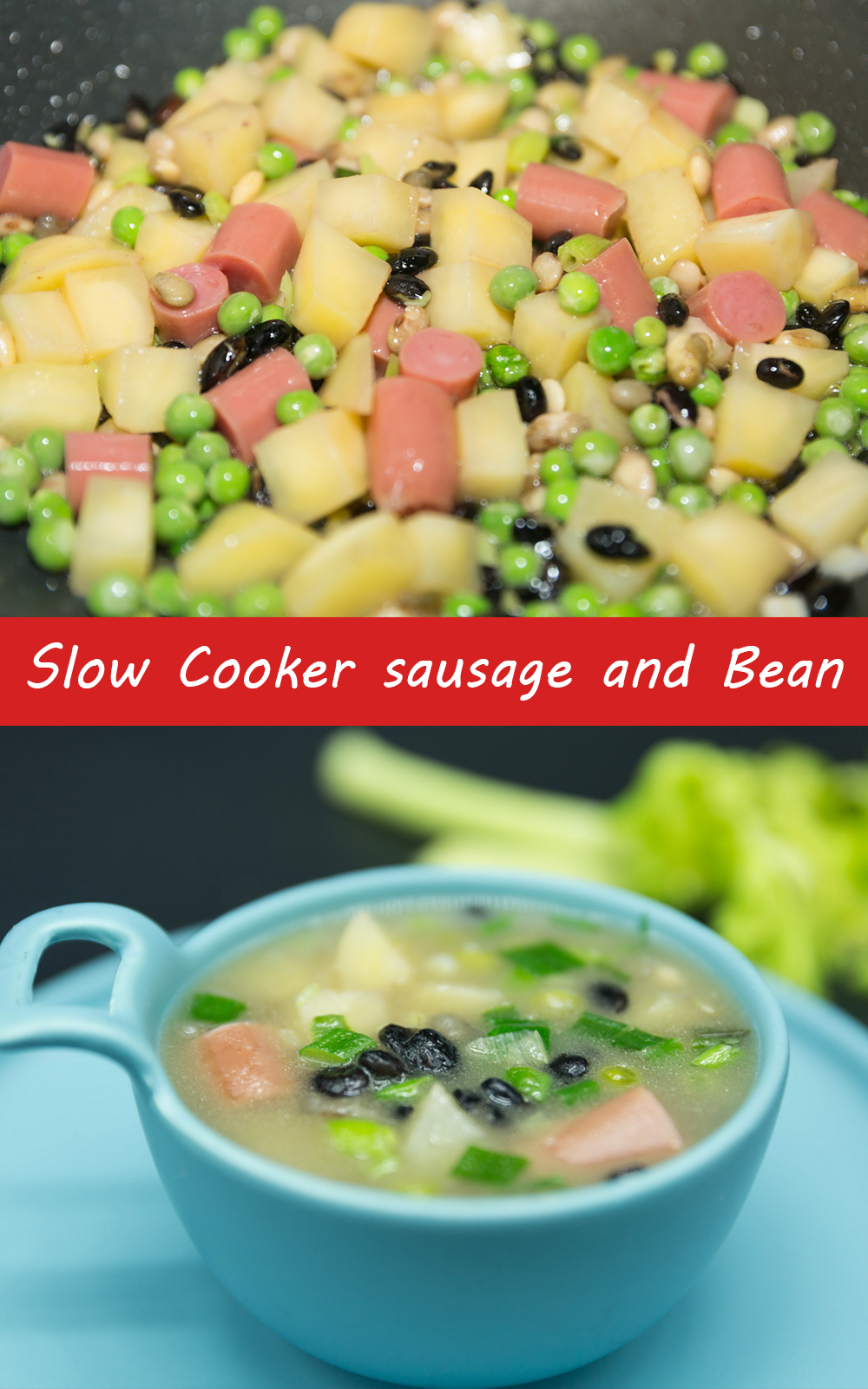 Slow Cooker sausage and Bean Soup