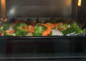 roasted shrimp and veggies