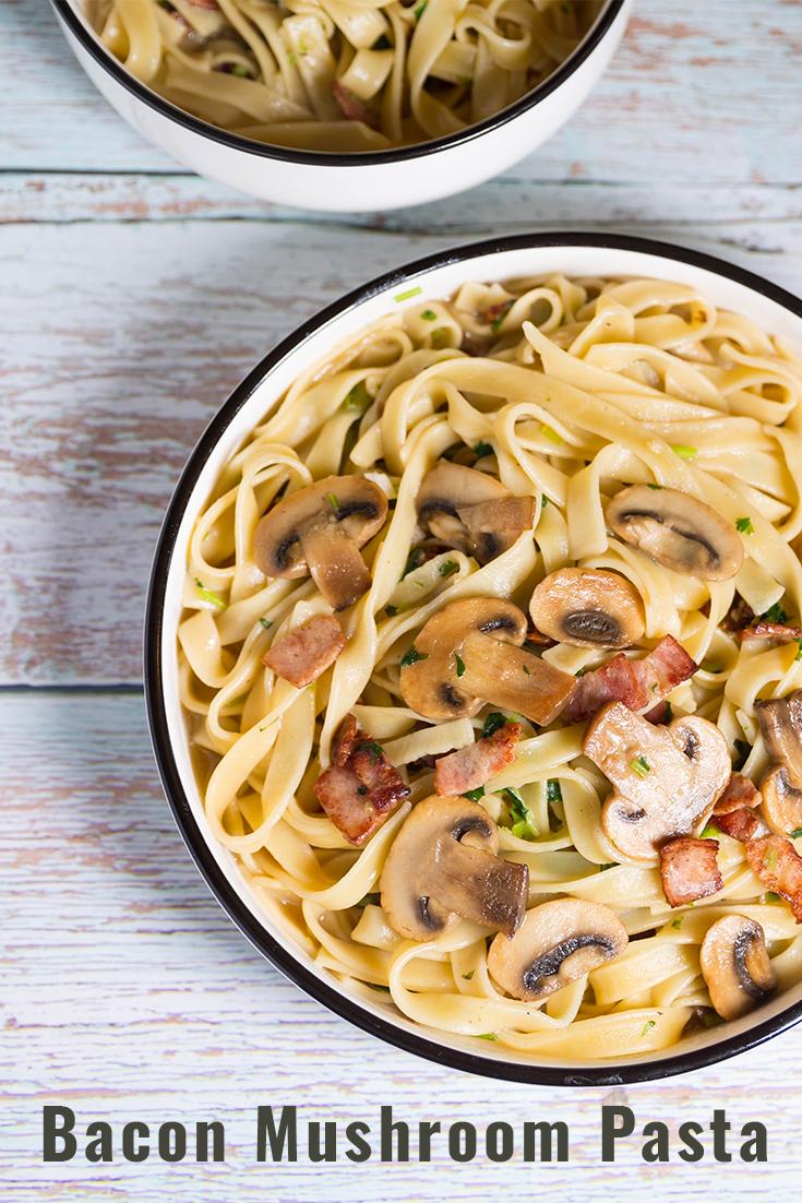 Bacon Mushroom Pasta