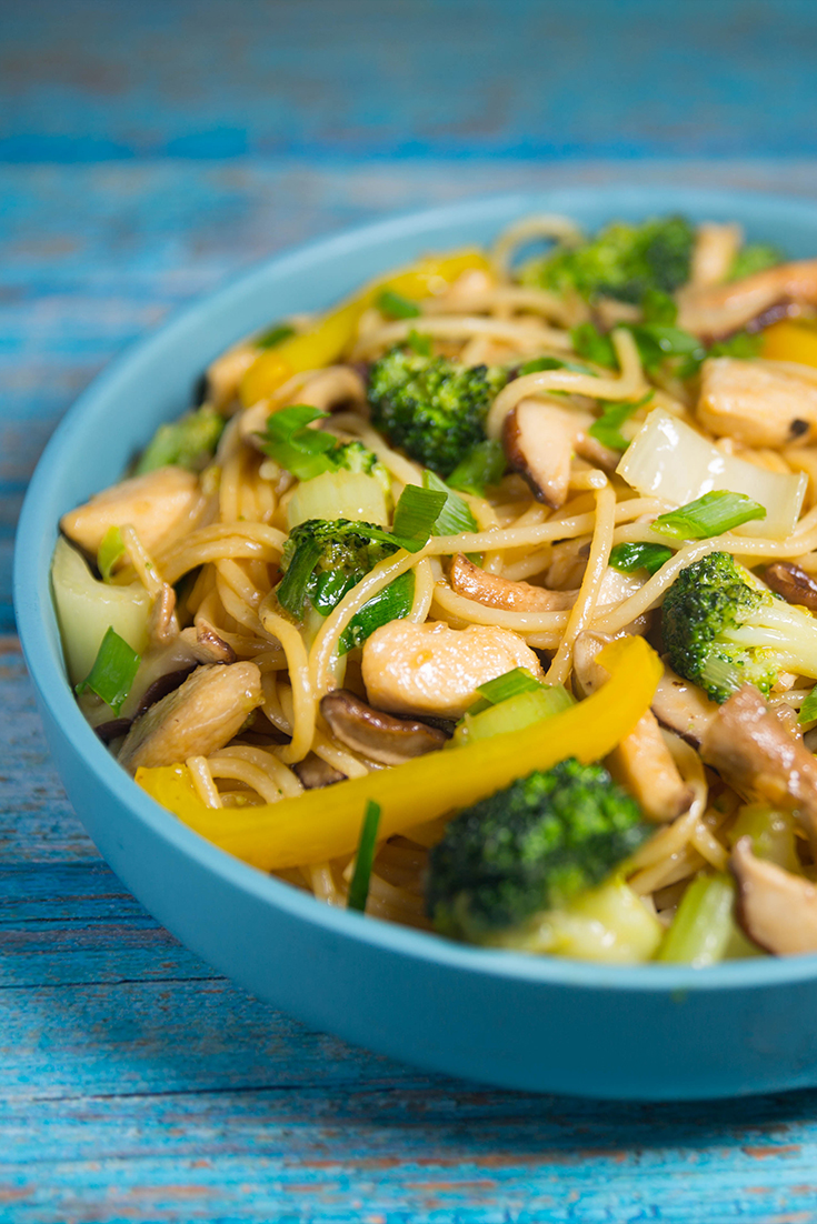 Chicken Stir Fry with Noodles