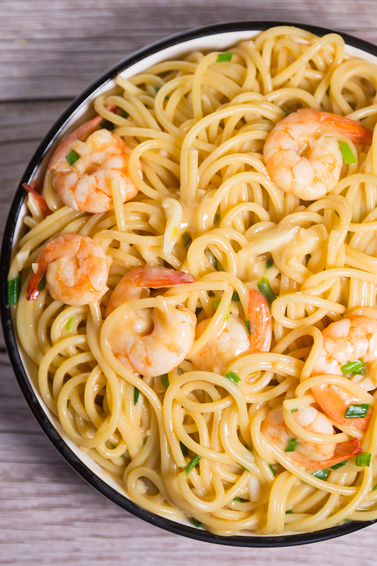 How to make garlic shrimp pasta recipes !