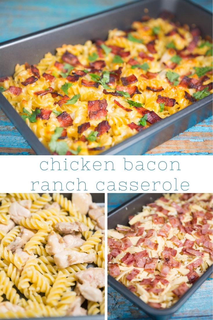 How to make Chicken Bacon Ranch Casserole: