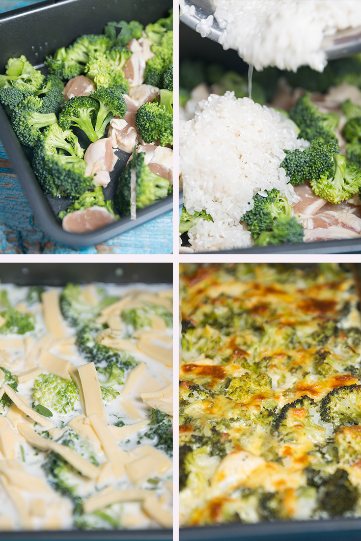 HOW TO MAKE CHICKEN BROCCOLI RICE CASSEROLE