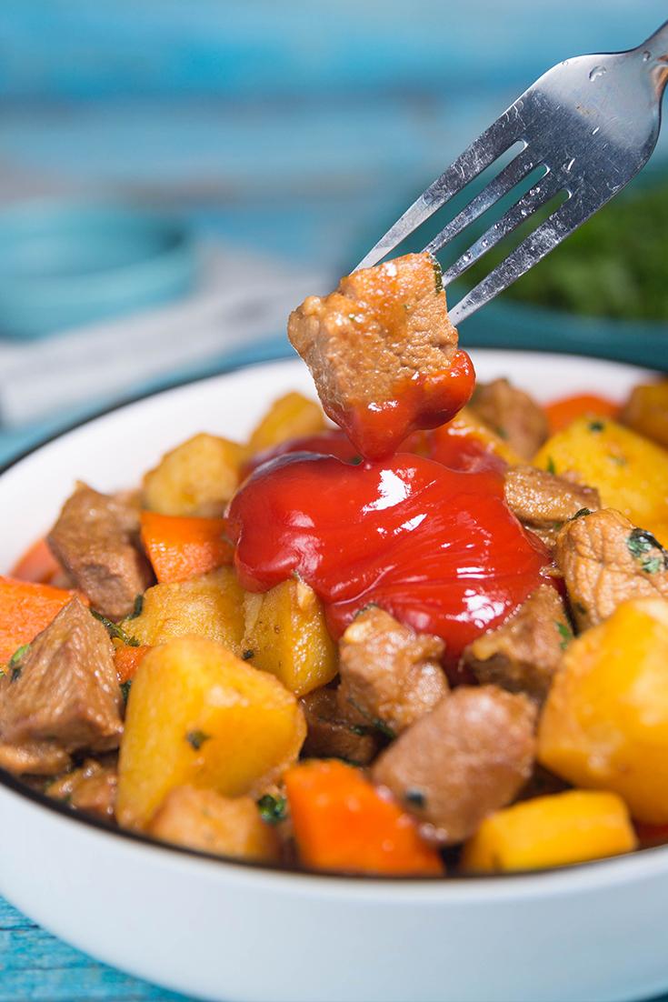 pork and potato stew