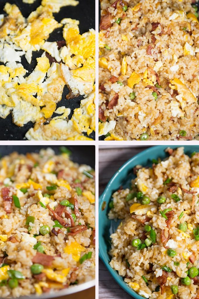 How to make bacon and egg fried rice!