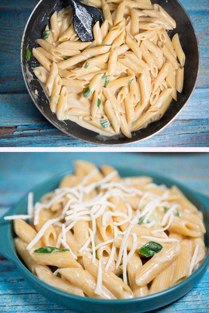 how to make creamy garlic pasta