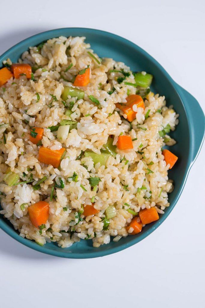 how to mak veggies fried rice!