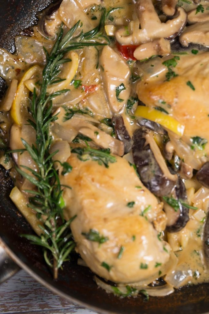 How to mak Chicken Breasts With Creamy Mushroom Sauce!