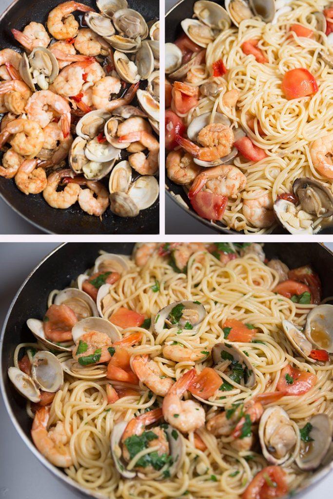 how to make Shrimp and Clam Pasta