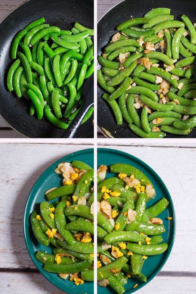 Sugar Snap Peas with Almonds
