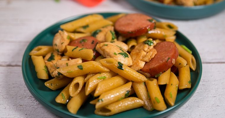 chicken and sausage pasta