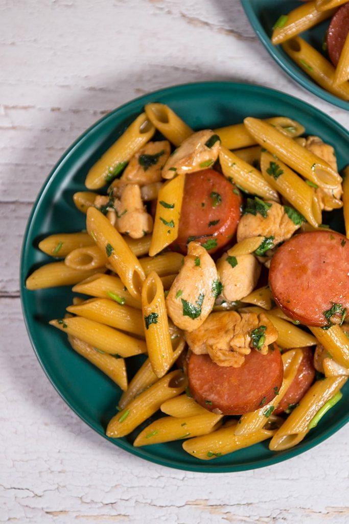 chicken and sausage pasta