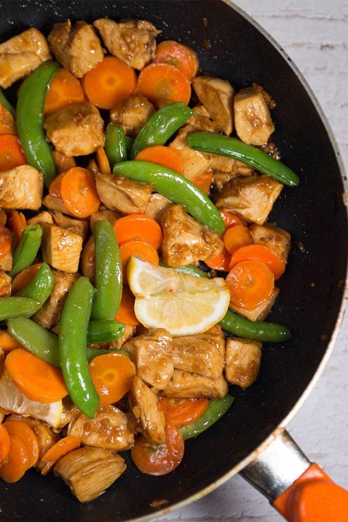 chicken with sugar snap peas