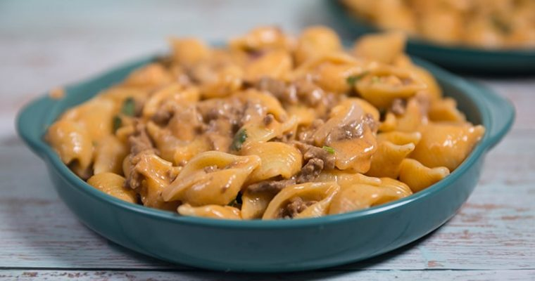 creamy beef and shells