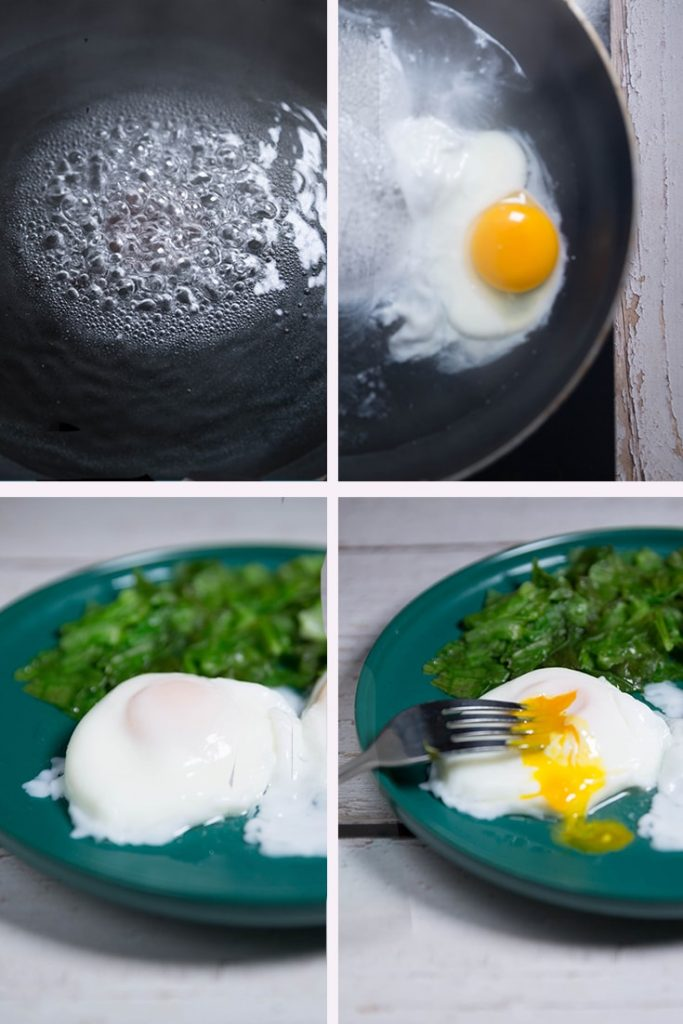 How to poach an egg in water