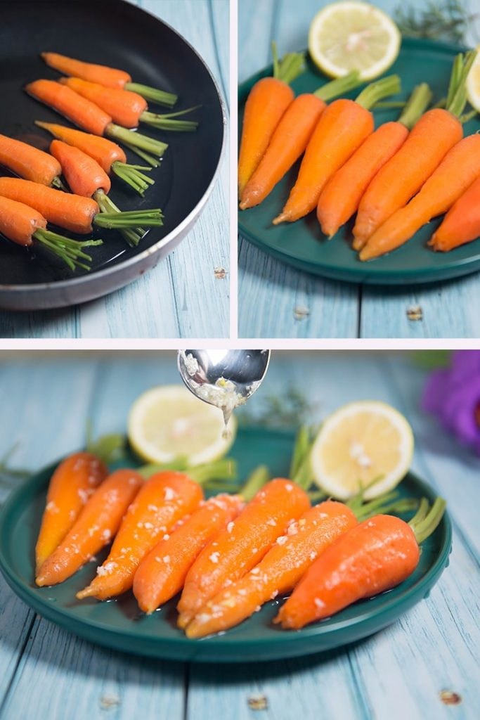 honey and lemon glazed carrots