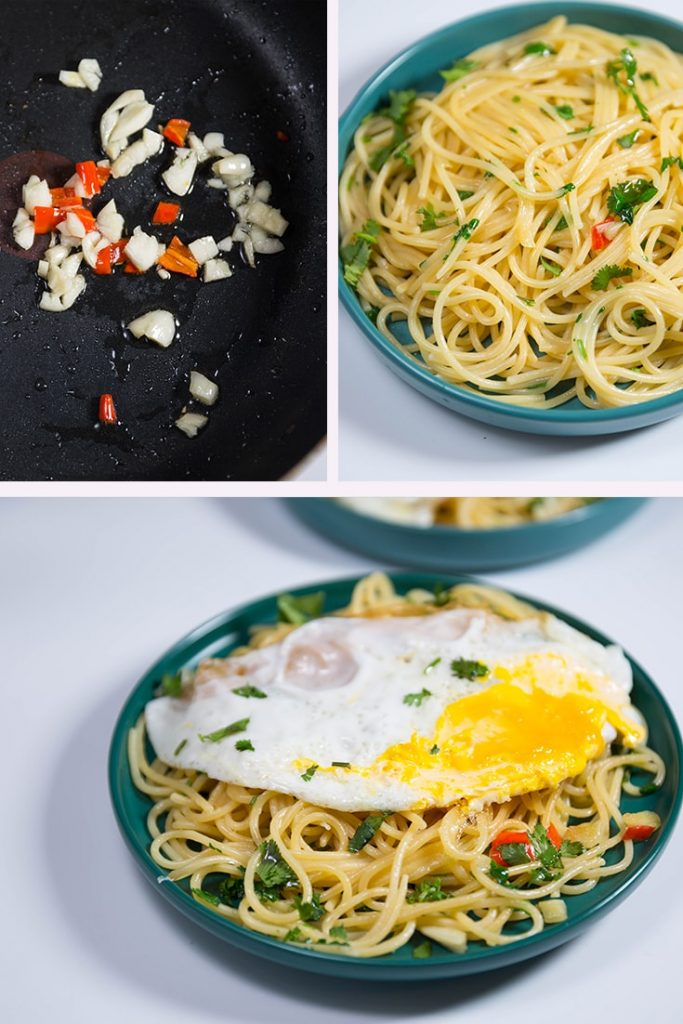 how to make pasta with fried egg!