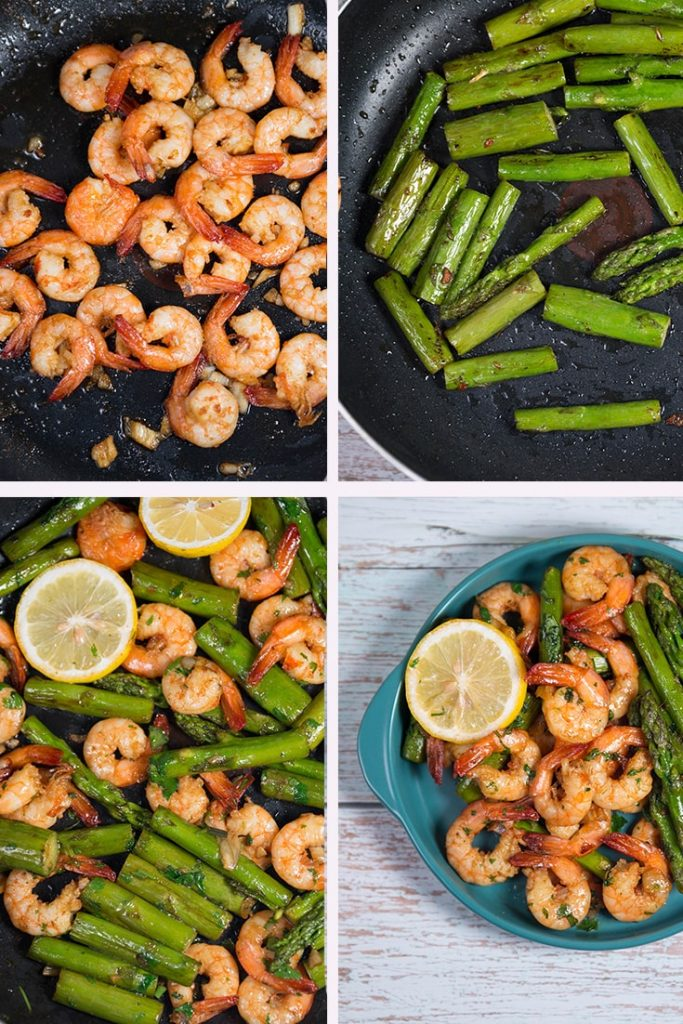 A super-easy Garlic Shrimp Asparagus Skillet recipe