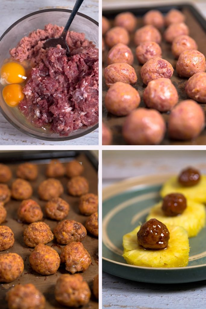 ham balls with pineapple glaze