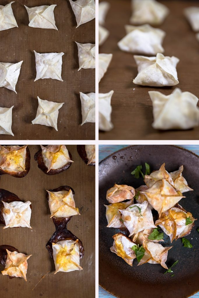 To make the shrimp wonton: