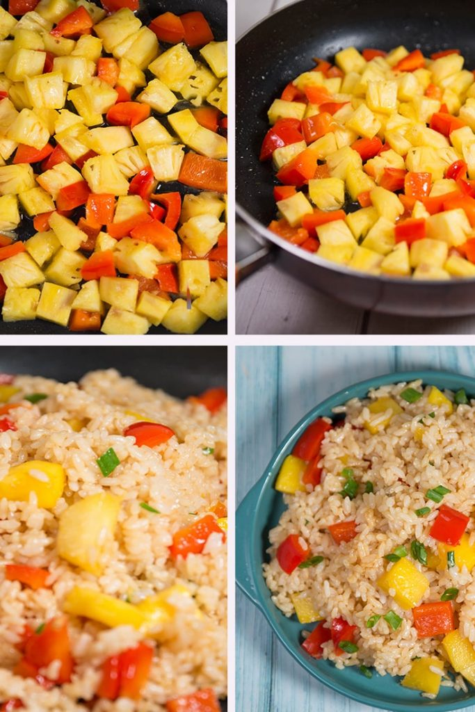 vegan pineapple fried rice