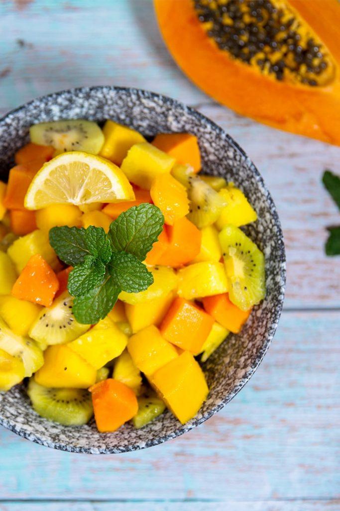 HOW DO YOU MAKE TROPICAL FRUIT SALAD?