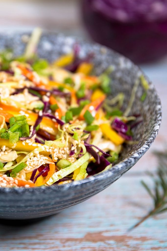 How to make Asian cabbage salad dressing!