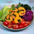 Crispy Shrimp with Red-Cabbage Slaw
