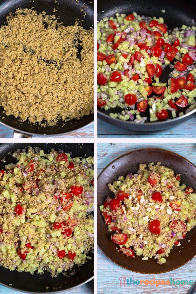 How to make Mediterranean quinoa salad!