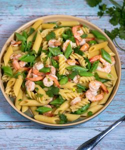 Pasta with Shrimp & Sugar Snap Peas